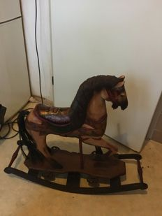 Wooden decorative rocking horse