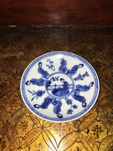 Porcelain saucer - China - ca 1700 (Kangxi period)