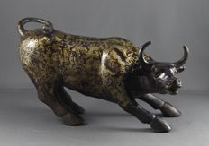 The Bull of Wall Street - Bronzen sculptuur Limited - Tweede helft 20e eeuw - New York