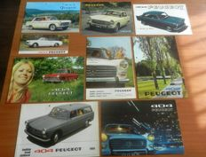 Lot of Peugeot 404 brochures