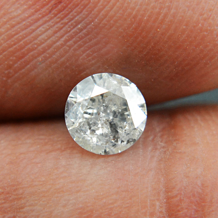 Diamond - 0.51 ct Round diamond cut K, I2 - **No Reserve**