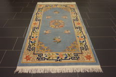 Beautiful old hand-knotted China carpet China Art Deco Pekking old rug 120 x 210 cm
