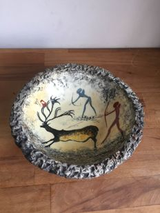 Andre Guiron - hand-painted dish