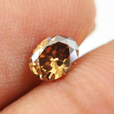 Diamond - 0.32 ct Oval cut  Fancy Brown, VS2 - **No Reserve**