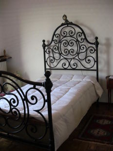 Wrought iron bed - Lombardy, Italy - early 20th century