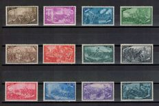 Italian Republic, 1948, Italian Unification series -- Sassone  No.  580/591 and express No. 32
