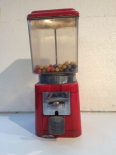 Authentic Vintage gumball machine, mid 20th century
