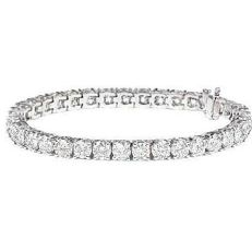 Tennis bracelet in 18 kt gold with natural diamonds, 4.15 ct