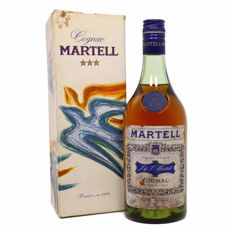"Martell cognac three star ""4 crus"" blend OCB 1970s"