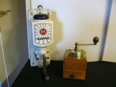Douwe Egberts wall and manual coffee grinder