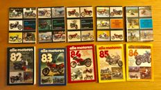 Complete series of year books Motoren, 51 paperbacks