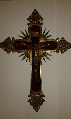 Antique large Christ Cross.  Ca. 1900 - Portugal.