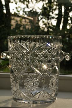Bohemian cut Crystal champagne ice bucket, late 20th century