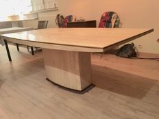 Willy Rizzo dining room table in travertine