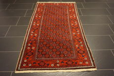Antique hand-knotted Persian collector's carpet, Baluch, collector's rug carpet tappeto rug, made in Iran, 100 x 190 cm