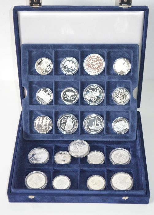 Europe - 1½, 5, 8 and 10 Euro 2001/2007 (21 different coins)