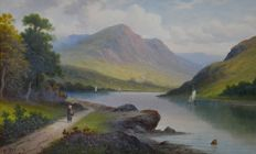 Victor Rolyat (19th/20th century) - A pair of Scottish highland landscapes.