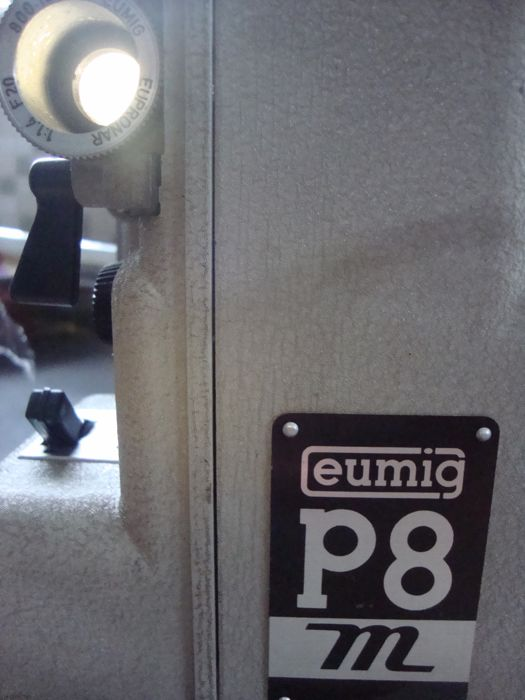 Eumig P8 automatic 8mm projector + Minette Eight Dubbel 8 Viewer