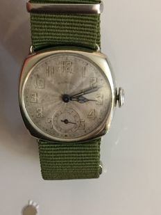 ingersoll platinette WW1 era military style silver trench watch