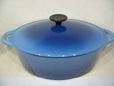 A heavy French cast iron casserole