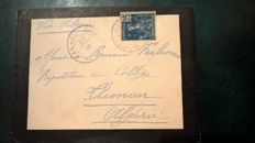 French PAK-HOI 1910 - mourning cover sent to Algeria via Siberia