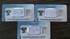 0.50 ct each - Colour D - Clarity IF - IGI Antwerp