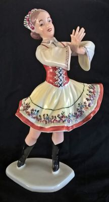Wallendorf Porcelain Figurine of a Dancer Signed K.Steiner