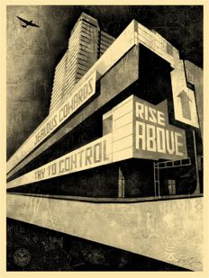 Shepard Fairey (OBEY) - Rise Above CAC Canvas