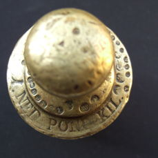 Early '1 NED POND KIL' weight from the Netherlands, material brass - calibrated from 1820