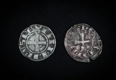 France - Lot of 2 deniers Tournois with round O (Philip III and Philip IV) - silver