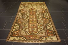 Collector's oriental carpet, Anatolia Milas Kazakh Caucasus design, made in Turkey, 130 x 220 cm, Tappeto, Old Rug, Tapis Carpet, Tapijt