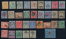 Malta 1882–1921 - Batch with stamps from Wueen Victoria an King George with Michel 62
