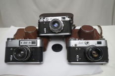"Great lot !! ""FED-2""(Transitional model: the number starts with the letter ""A"") + ""FED-3"" + ""FED-5В""."
