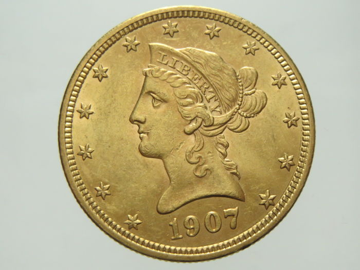 USA - 10 Dollars 1907 Liberty head - Gold