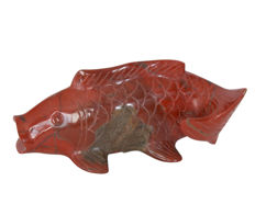 Red Jasper Koi Carp - Top piece - 13 x 6 x 5.5 cm - 349 g