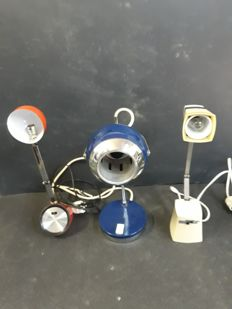 Taki and Reggiani - 3 table lamps, vintage original 1960-70s