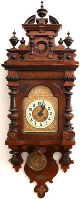Gustav Becker Original German Wall Clock from 1901