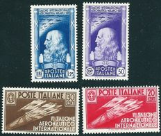 Kingdom of Italy, 1935 - First International Airshow - Sassone Nos. 384=387