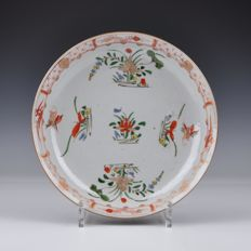 A Kangxi Period Famille Verte Plate With Brown Glazed Back - China