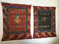 Two thangka paintings - Nepal - late 20th century