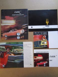 STUDEBAKER - Lot of 5 original brochures for Lark and Hawk Granturismo - 1959 to 1962
