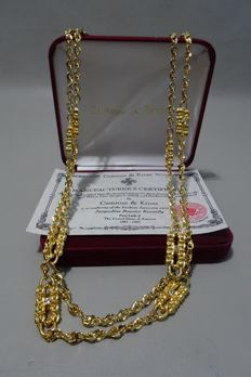 Camrose & Kross - Jackie Kennedy paperclip necklace - gold plated