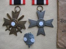 Germany Third Reich War merit cross 2nd lass with Swords with manufacturer's mark 41 - 2nd class without swords World War II