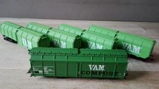 Roco H0 - 46345/66025/4368C/47223 - Five Roco VAM wagons of the NS
