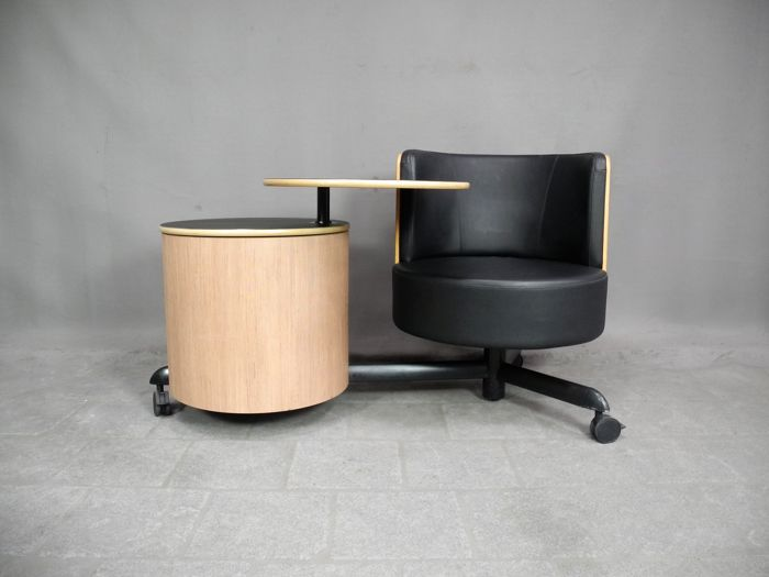 P. de Boer for Gispen - Mobile armchair / workstation 'SideCart' Limited Edition