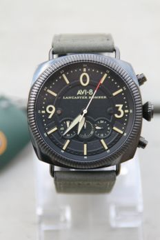 AVI-8 Lancaster Bomber Chronograph men's wristwatch including luxurious collector box