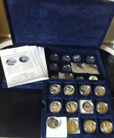 China - collection of various coins 1984-1997 'Kingdom of Cathay' (24 pcs) - silver