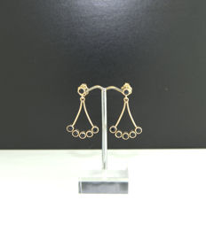 14k Yellow Gold Earrings-Sapphire ***no reserve price***