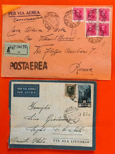 Eritrea 1930/1939 - Lot of 25 military letters and/or postcards