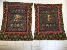 Lot of 2 Thangka painting -Tibet/Nepal - late 20th century